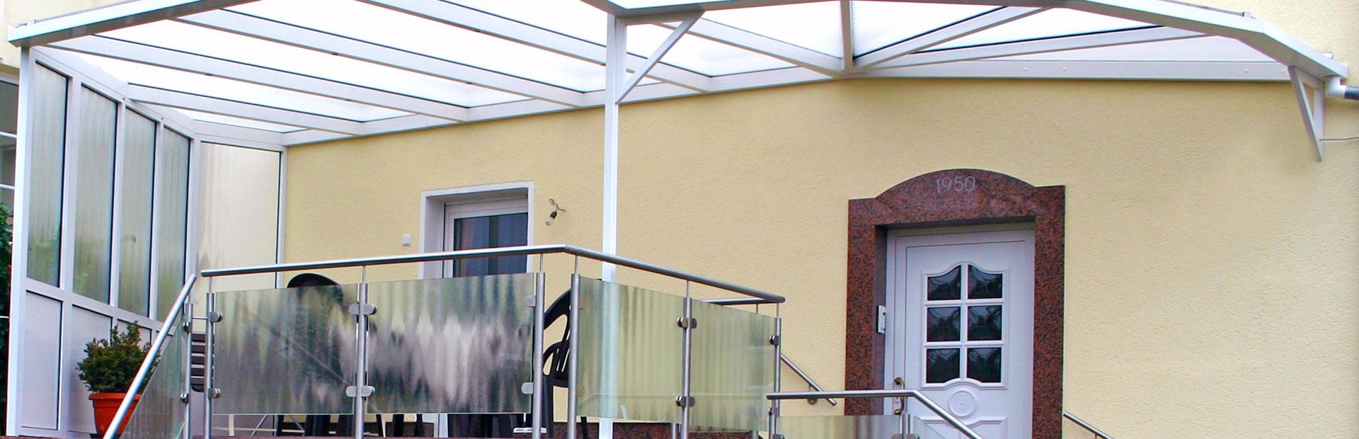 Vordächer, Geländer & Haustüren - Wintergarten Neu GmbH